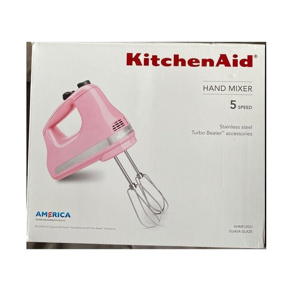 KitchenAid KHM512GU Ultra Power 5-Speed Hand Mixer Guava Glaze ...